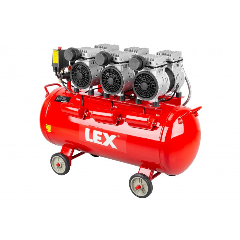 Безмасляный бесшумный компрессор LEX LXAC85-28LO - емкость 85 литров