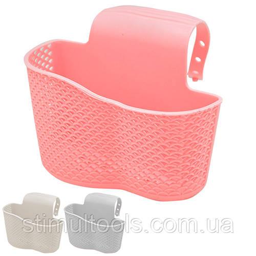 Карман на кран Stenson для мыла, кухонных губок, щеток 16*13 см