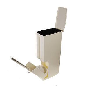 Мусорное ведро Sky с туалетным ершиком для унитаза Белый (5831)