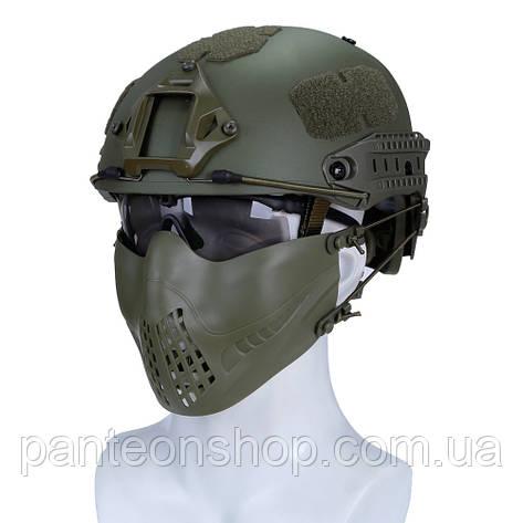 Маска FAST-адаптація [PILOT] Olive / 2види кріплення: на шолом ТА на голову / плюс дуже ергономічна, фото 2