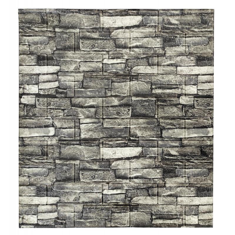Самоклеюча декоративна панель з 3D текстурою під цеглу, Сірий піщаник, 700х770х5мм