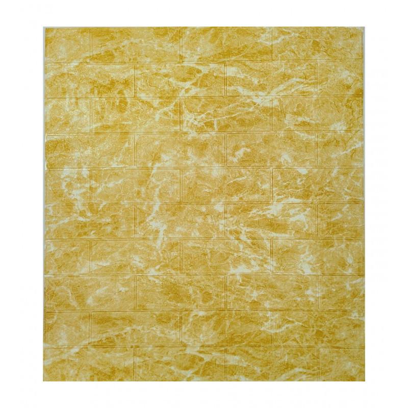 Самоклеющаяся декоративная 3D панель мрамор золотой 700x770x5мм