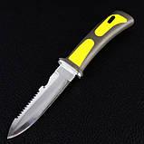 Нож для дайвинга DK-0003 в ножнах (длина: 23.5cm, лезвие: 11.5cm), фото 2