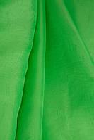 Ткань Шифон для декора окон и помещений, зеленый