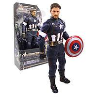 Капитан Америка фигурка 34 см Марвел Супер Герой CAPTAIN AMERICA Avengers подвижный 3331