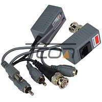 Передатчик-приёмник аудио-видео сигнала+ питание, по витой паре