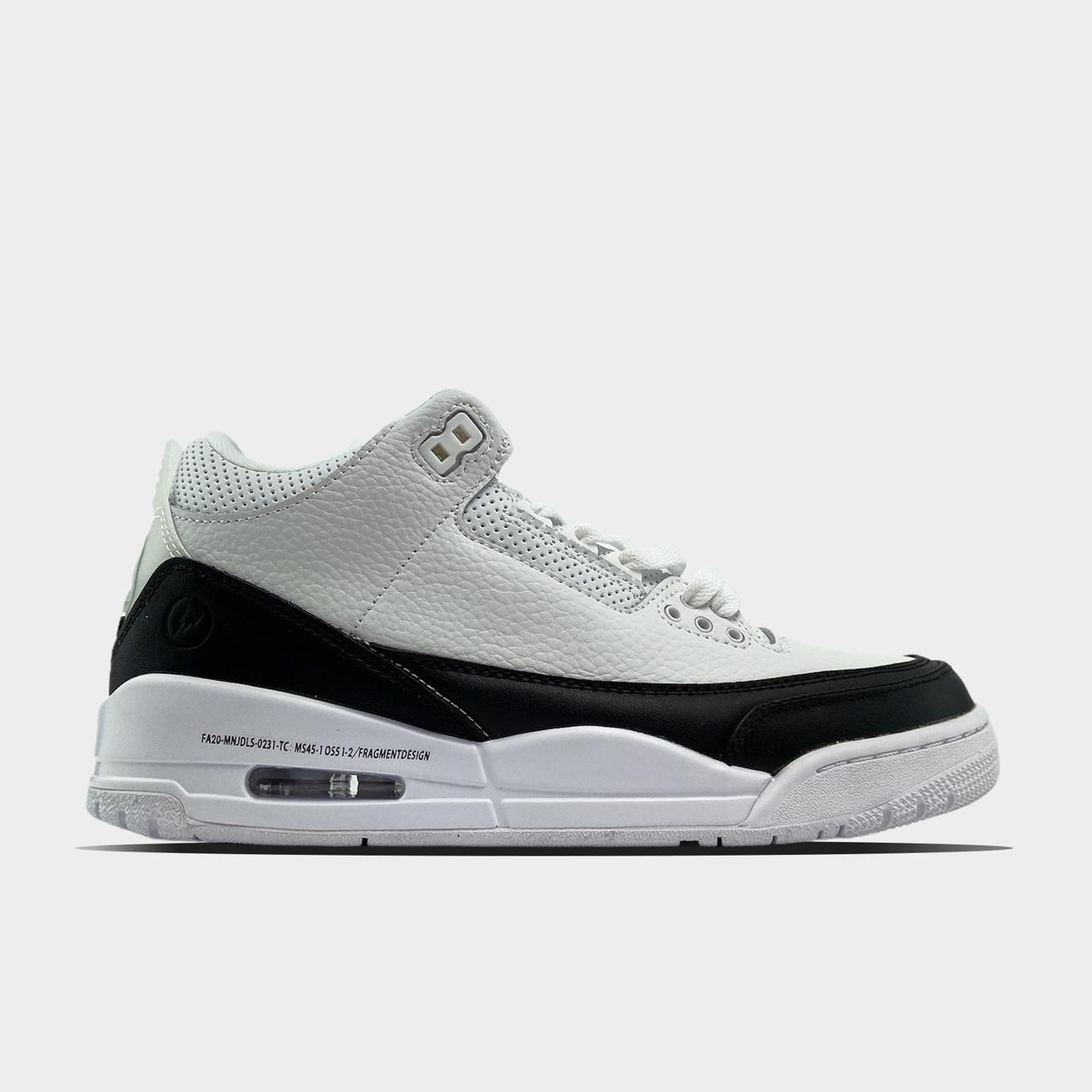 Nk, крос, обувь, взуття, sneakers, шузы, Air Jordan 3 White Black (Белый)