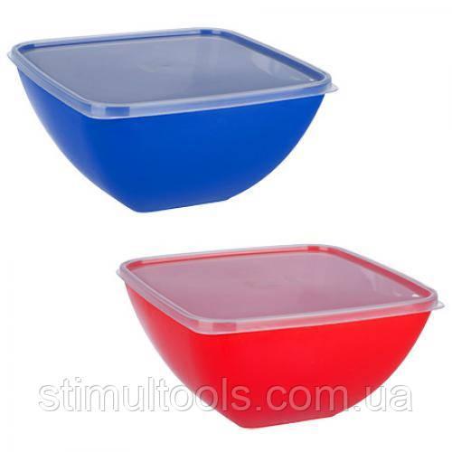 Миска-салатница пластиковая с крышкой Stenson 3 л