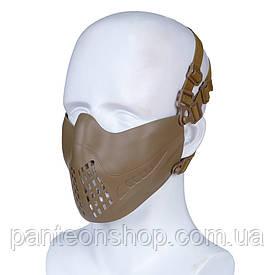 Маска FAST-адаптація [PILOT] Tan / 2види кріплення: на шолом ТА на голову (для Airsoft, Страйкбол)