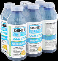 Упаковка безалкогольного напою oshee вітамін h2o магній 0,555 л * 6 пляшок #S/H
