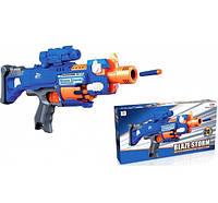 Кулемет бластер Blaze Storm на м'яких кулях з присосками на батарейках 7055