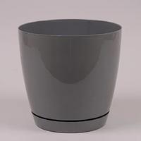 Горщик пластиковий круглий Тоскана 13см, 1.6 л, фото 1