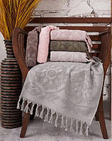 Набор махровых полотенец sikel жаккард barberyy 70*140 6 шт #S/H, фото 1