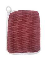 Губка-рукавичка vende 6001685 з петелькою 20*17 см бордовий #S/H