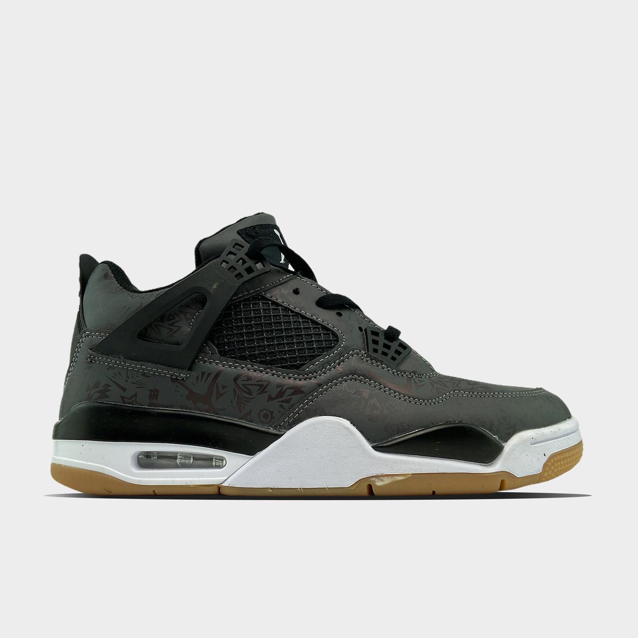 Nike Air Jordan 4 Retro Laser Black Gum (Сірий)