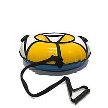 Тюбинг надувные санкиватрушка d120 см серия Стандарт Бело - Оранжевого цвета для детей и взрослых