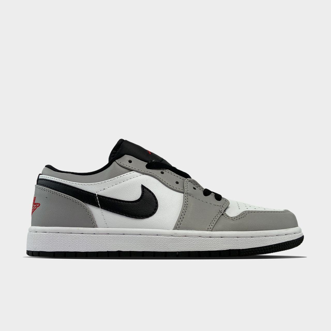 Nk, крос, обувь, взуття, sneakers, шузы, Air Jordan 1 Low Grey White (Серый)