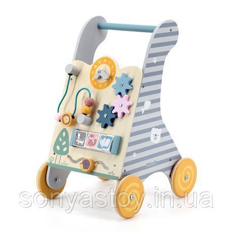 Дитячі ходунки-каталка PolarB з бизибордом для розвитку опорно-рухової системи, від 9 міс.