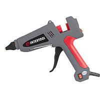 Пистолет клеевой 100(300)Вт, 230В, 215-230°C под стержни 10.8-11.5мм, 13-30 г/мин., выключатель INTERTOOL