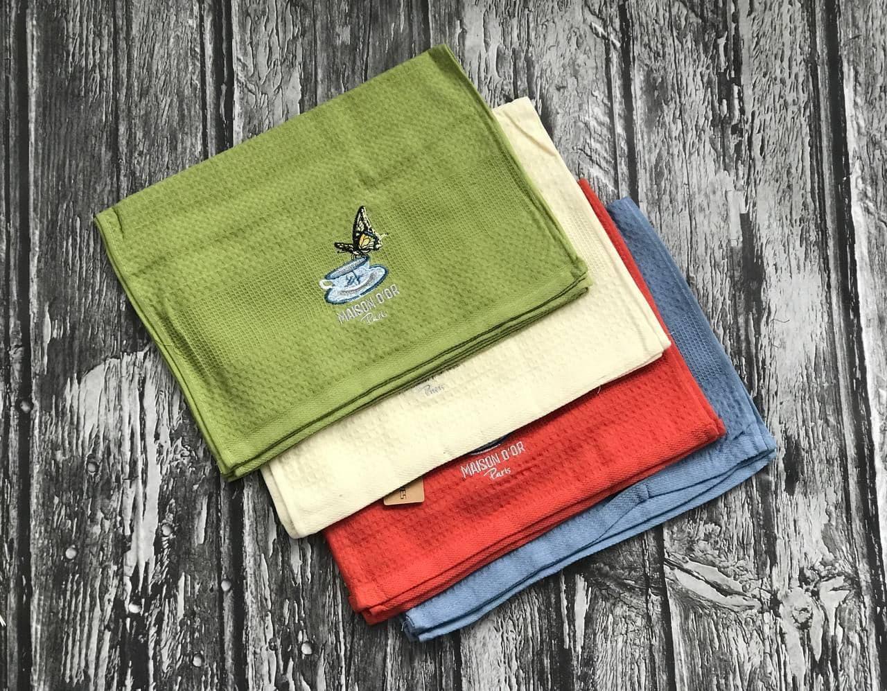 Упаковка кухонних рушників (12 шт), 100% бавовна, метелик