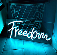 """Неонова вивіска """"Freedom"""" 450 mm x 200 mm з гнучкого неону"""