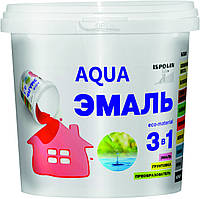 Краска Акваэмаль 3 в 1 Ispolin 0.35мл чёрная 0.9