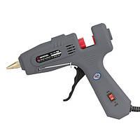 Пистолет клеевой 80(245)Вт, 230В, 215-230°C под стержни 10.8-11.5мм, 13-30 г/мин., выключатель. INTERTOOL