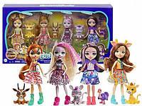 """Игровой набор Энчантималс """"Друзья в солнечной саванне"""" 4 куклы+питомцы Enchantimals Mattel GYN57"""