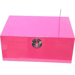 Шкатулка для украшений Ottaviani 32721 из дерева розовая (Италия)