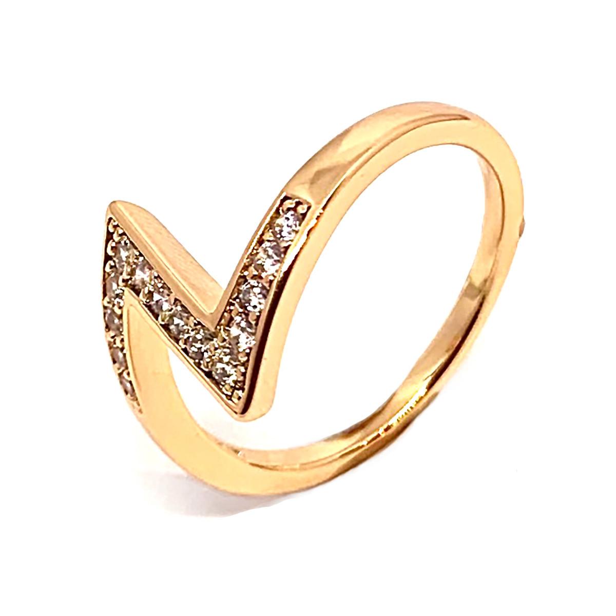 Кольцо Xuping из медицинского золота, белые фианиты, позолота 18K, 11975