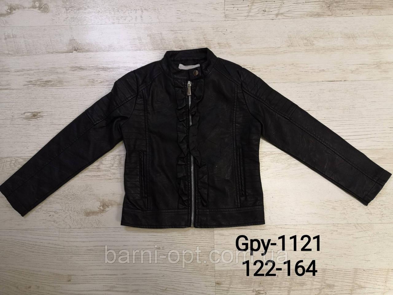 Куртка кожзам. на дівчинку оптом, Glo-story, 122-164 рр