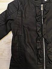 Куртка кожзам. на дівчинку оптом, Glo-story, 122-164 рр, фото 2
