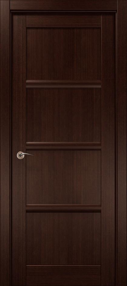 Межкомнатная дверь «Папа Карло» CP-16 (глухая), венге 14L