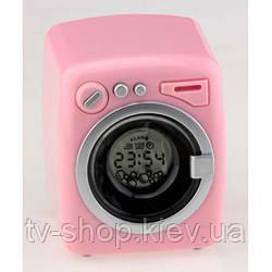 Пральна машина годинник будильник (рожева,блакитна)