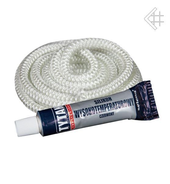 Комплект уплотнительный шнур Ø8 мм + термостойкий клей