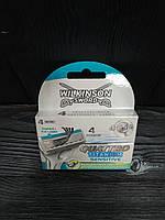 Wilkinson Sword Quattro Titanium Sensitive (4 шт.) змінні картриджі в упаковці