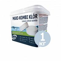 Таблетки для бассейна MAX «Комби хлор 3 в 1» Kerex 80002, химия, хлорка для очистки воды, 1 кг (Венгрия)