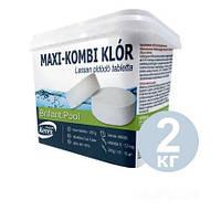 Таблетки для бассейна MAX «Комби хлор 3 в 1» Kerex 80003, химия, хлорка для очистки воды, 2 кг (Венгрия)