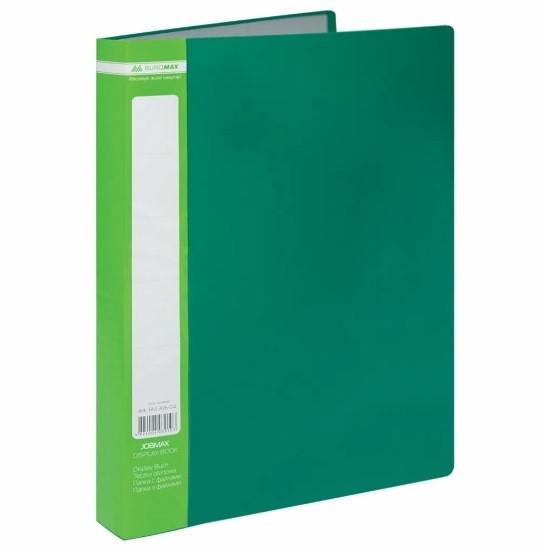 Папка с 60 файлами А4 JOBMAX, зеленая