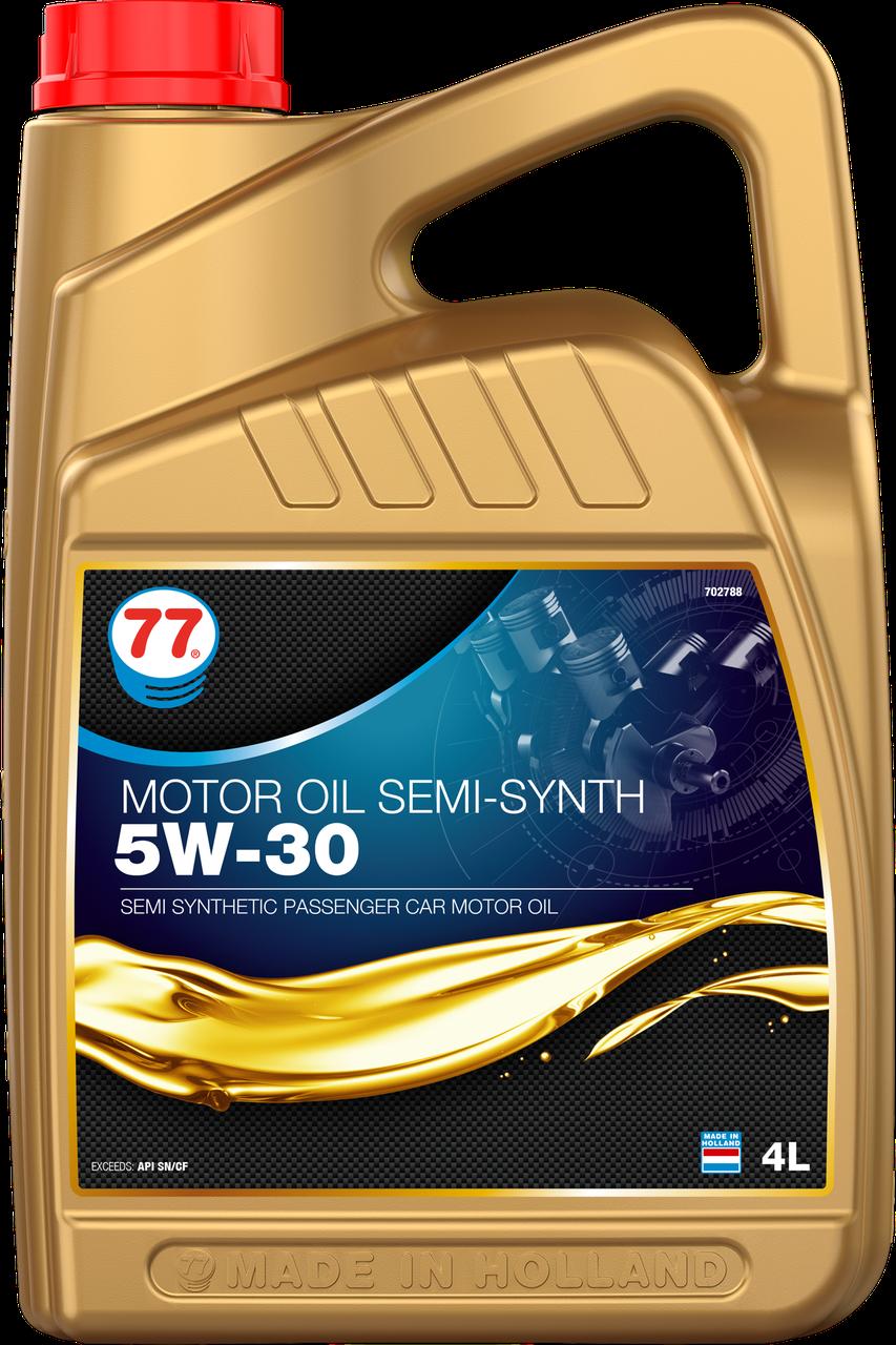 77 MOTOR OIL SEMI-SYNTH 5W-30 (кан. 4 л)