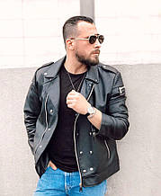Мужская куртка кожанка косуха, Турция