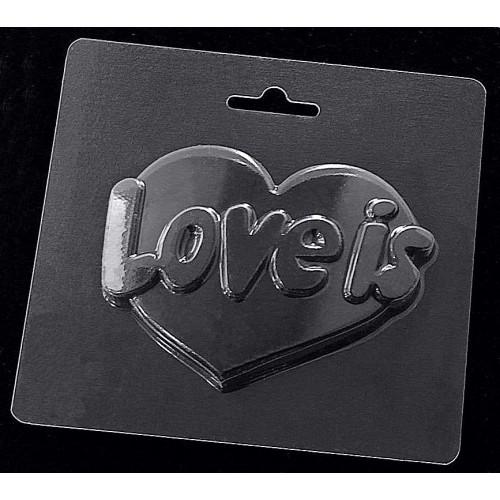 Форма пластикова 12*12 см, Серце LOVE IS...
