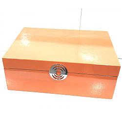 Шкатулка для украшений Ottaviani 32722 из дерева оранжевая (Италия)
