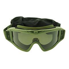 Очки тактические маска оливковые Revision 2122