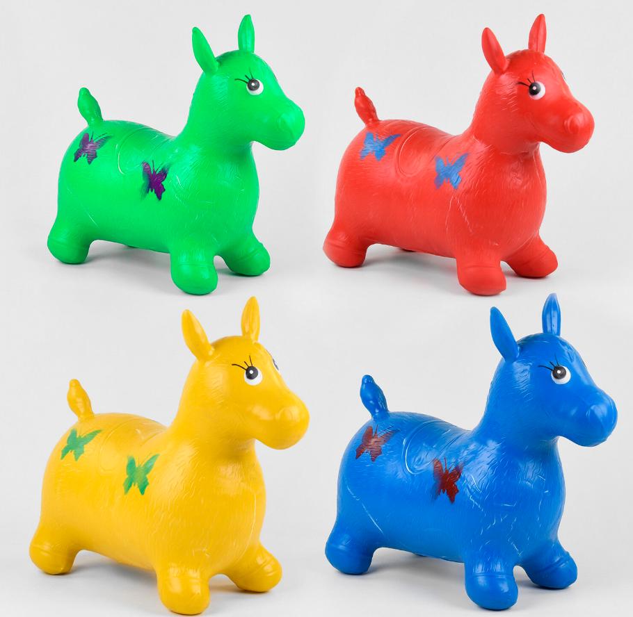Стрибун гумовий З 37880 /С7880 (30) Конячка, 5 кольорів, 1300 грам, в кульку