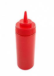 Пляшка для соусів з мірною шкалою 360 мл. червона