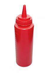 Пляшка для соусів з мірною шкалою 240 мл. червона