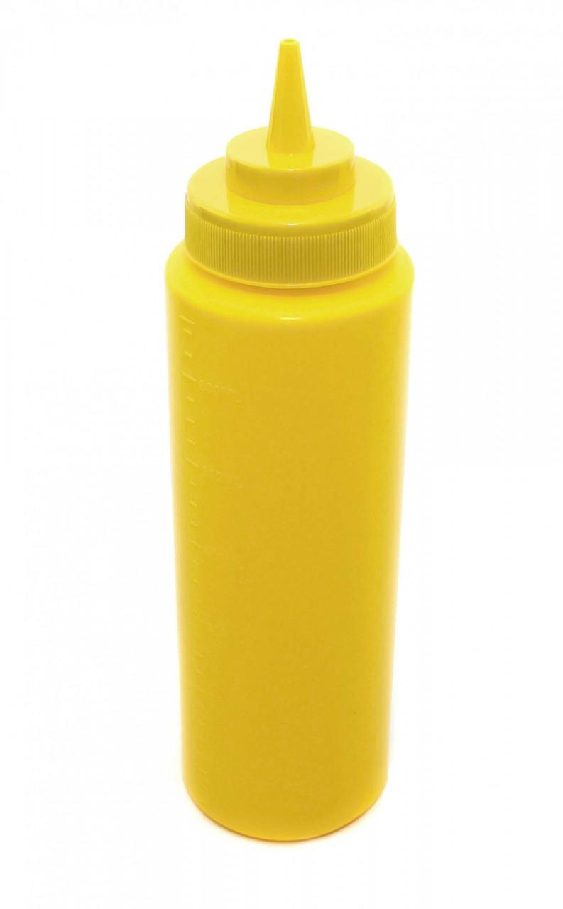 Бутылка для соусов с мерной шкалой 710 мл. желтая