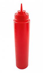 Пляшка для соусів з мірною шкалою 950 мл. червона