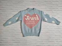 Светр дитячий теплий ангоровый під гумку Jewe 4-11 років, колір уточнюйте при замовленні, фото 1